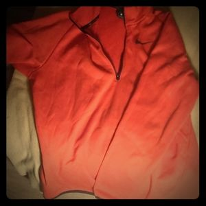 Red Nike dry fit pull over